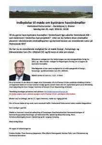 Invitation til Informationsmøde med Lars Chr Lilleholt