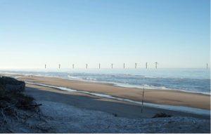 Visualisering af vindmøllepark ved Søndervig